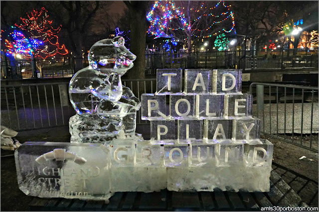 Esculturas de Hielo de la First Night de Boston: Common Park