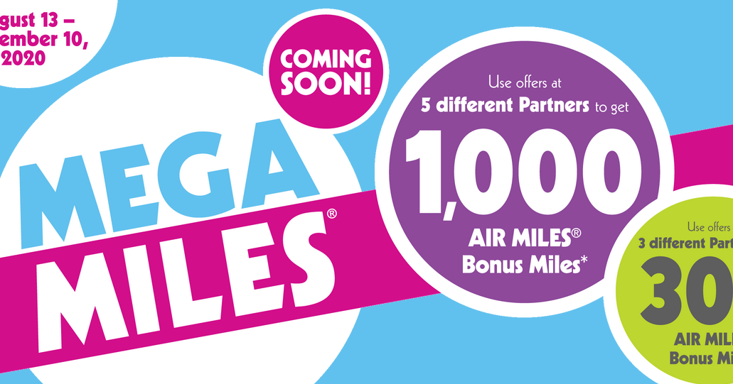 August 5 Update: AIR MILES Mega Miles returns next week, American Express Cobalt Confirmed Multiplier Locations update & 40,000 bonus PC Optimum points for online beauty shopping