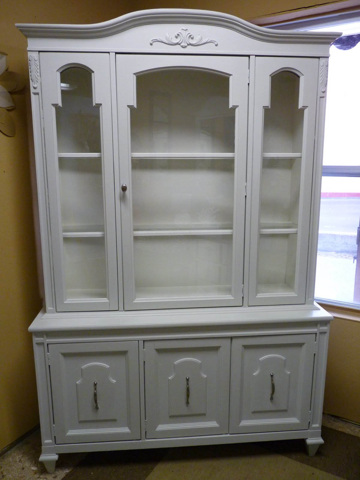 grey china cabinet city island living painted furniture china cabinet 16083