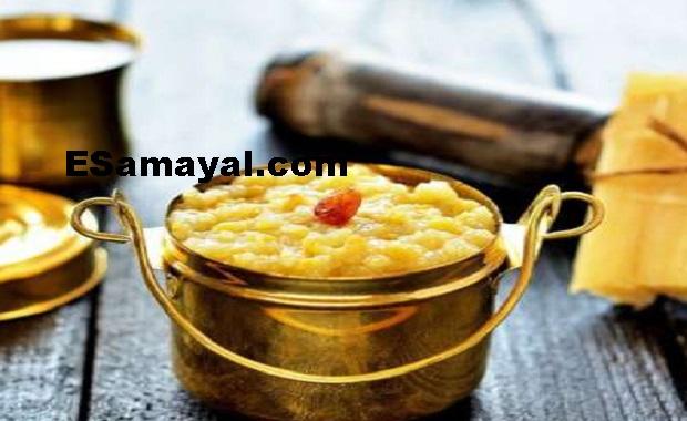 சுவையான கரும்புசாறு பொங்கல் செய்வது / Sugar Cane Pongal Recipe !