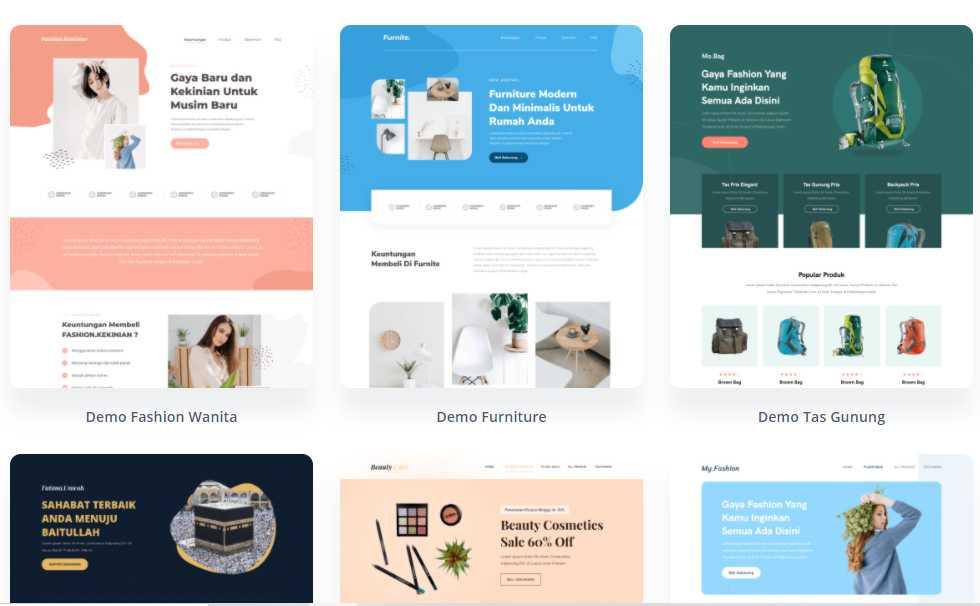 TEMPLATE LANDING PAGE PREMIUM BERKELAS. Template WordPress Elementor Berkualitas Cantik Menarik Elegean Berkelas Dunia Terbaik