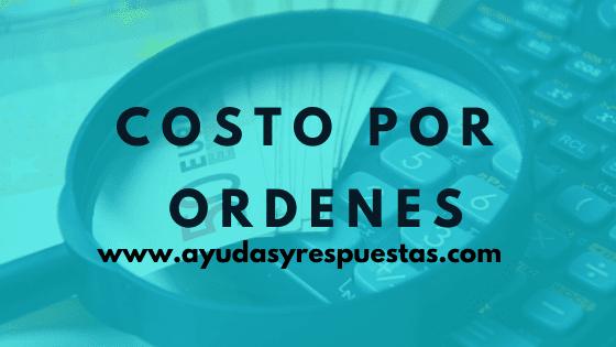 costos por ordenes