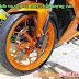 Sơn bánh mâm xe máy màu cam candy bóng cực đẹp