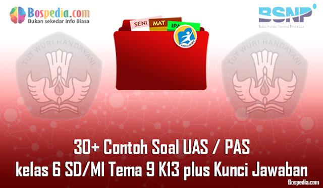 30+ Contoh Soal UAS / PAS untuk kelas 6 SD/MI Tema 9 K13 plus Kunci Jawaban