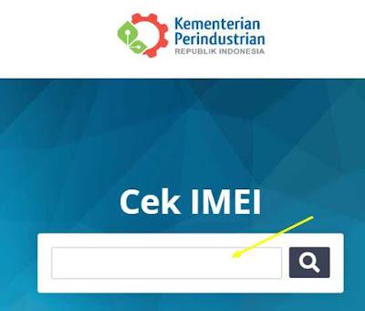 Cek IMEI di situs resmi pemerintah