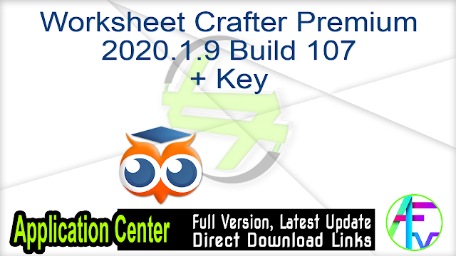 Worksheet Crafter Premium Edition 2020.1.9 Build 107 + Key