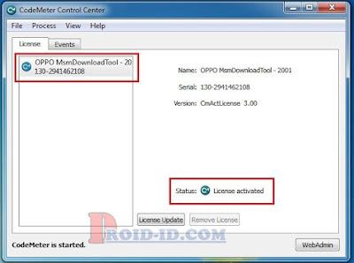 CodeMeter Licensi aktif