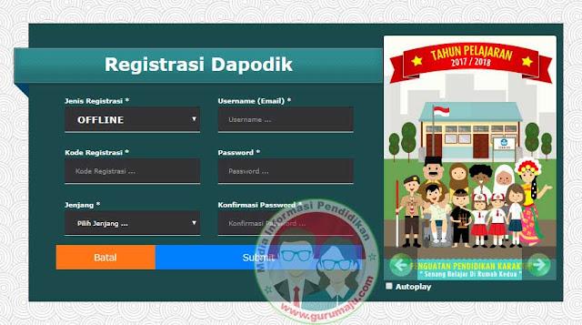 Download Aplikasi Dapodik Versi 2018/2017d Tahun Ajaran 2017/2018