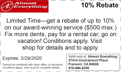 10% Rebate on Collision Repairs & Auto Body Work February 2020