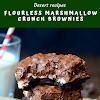 Flourless Marshmallow Crunch Brownies
