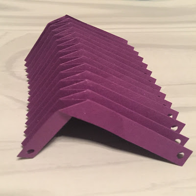 First set of v-pleat folds.  From Origami Lantern Tutorial using Silhouette Cameo by Nadine Muir from Silhouette UK Blog