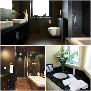 granit negru baie