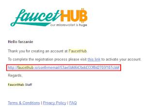 email dari faucethub.io