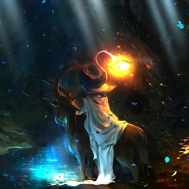 Fantasy Magic Forest Traveler