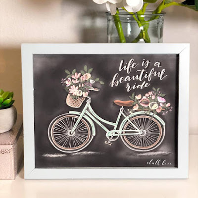 Life is a Beautiful Ride Chalk Print