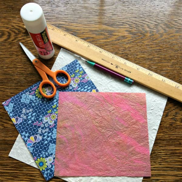 woven paper heart Valentine supplies