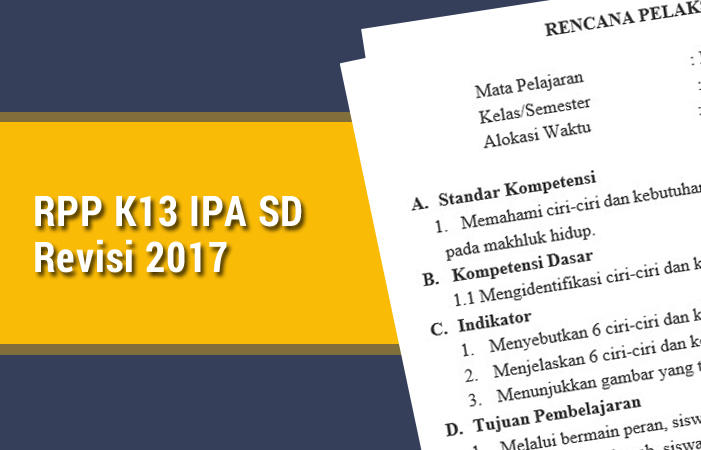 RPP K13 IPA SD Revisi 2017