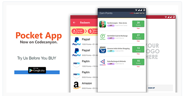 Pocket Android Rewards App