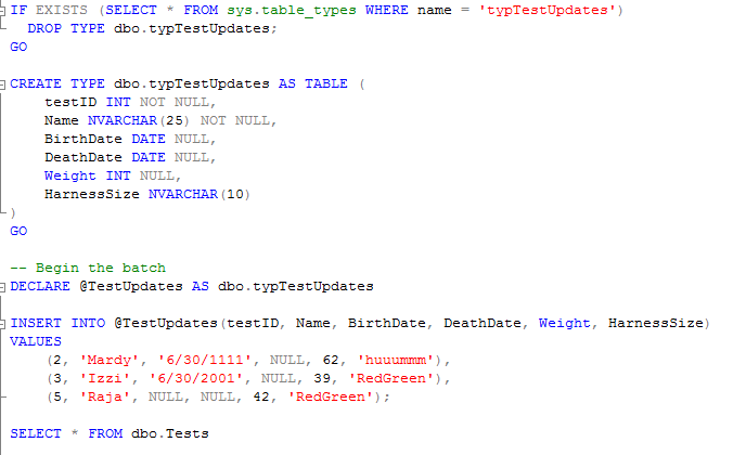 SQL Merge Statement Example(New Feature In SQL Server 2008