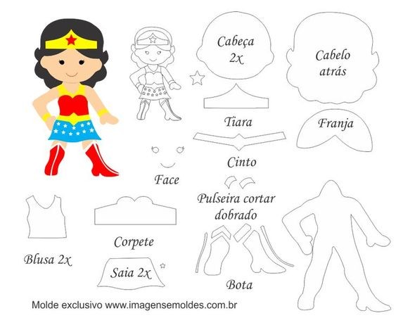 Wonder Woman Free Printable Template
