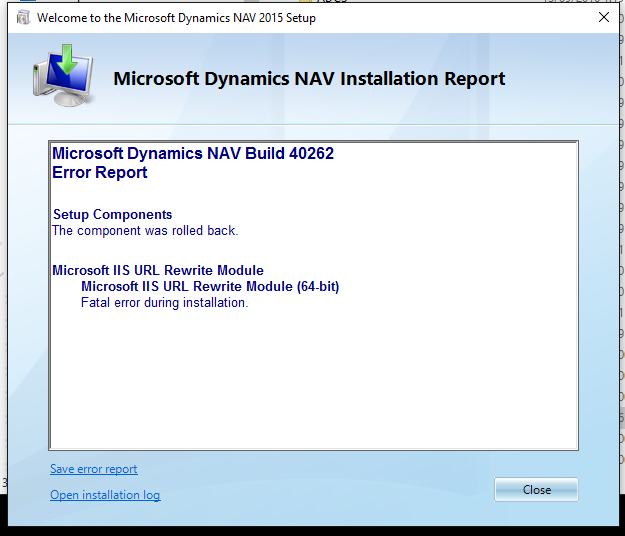 Fatal Error During Installation - Microsoft Dynamics NAV ... Pictures In Dynamics Nav Email Message