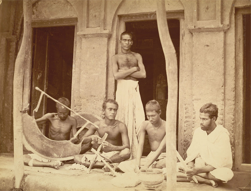 Five Sankharis (Shell-Cutters and Bracelet Makers) - Eastern Bengal 1860's