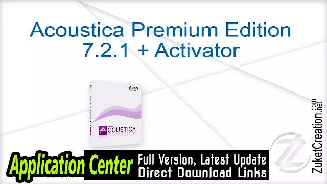 Acoustica Premium Edition 7.2.1 + Activator