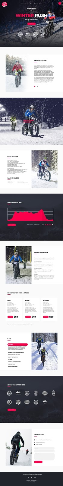 Best Mountain Bike Event Website Template