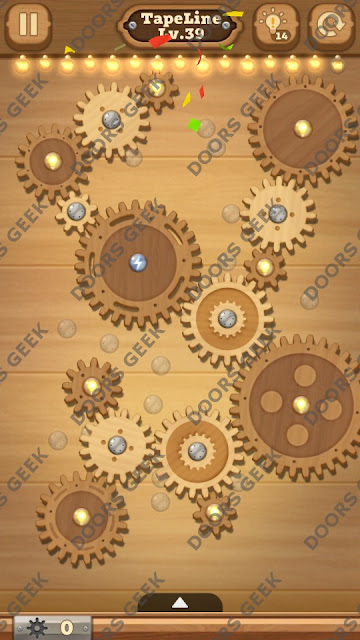 Fix it: Gear Puzzle [TapeLine] Level 39 Solution, Cheats, Walkthrough for Android, iPhone, iPad and iPod
