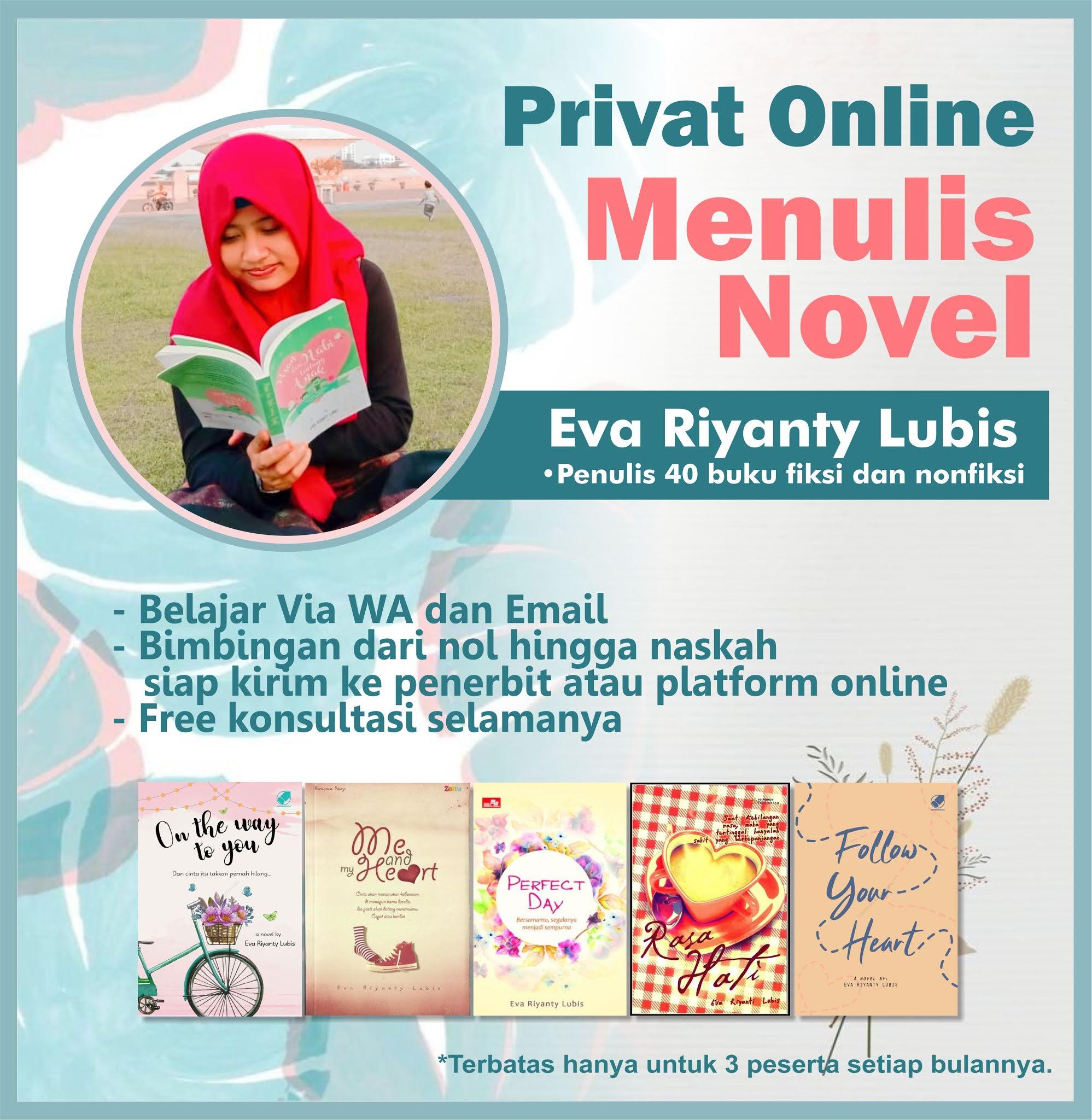 Bimbingan Privat Menulis Novel Online 2021