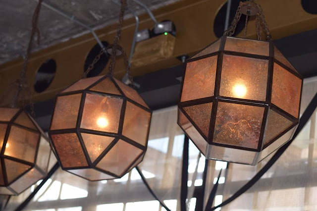 Lighting at the Artisan bar and kitchen