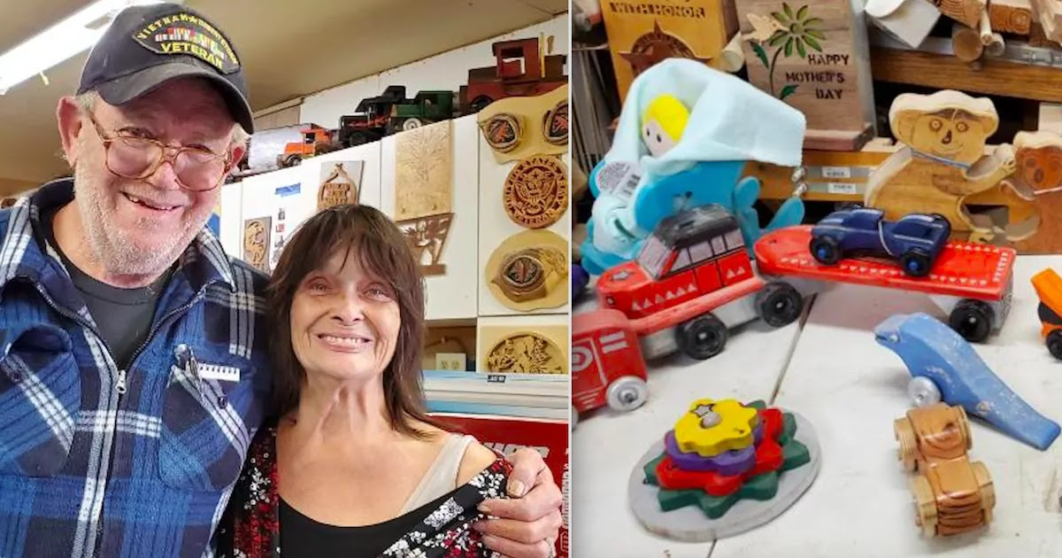 Retired Couple Makes 1,400 Wooden Toys For Disadvantaged Children And Promises To Keep Their Good Work Going Throughout The Year