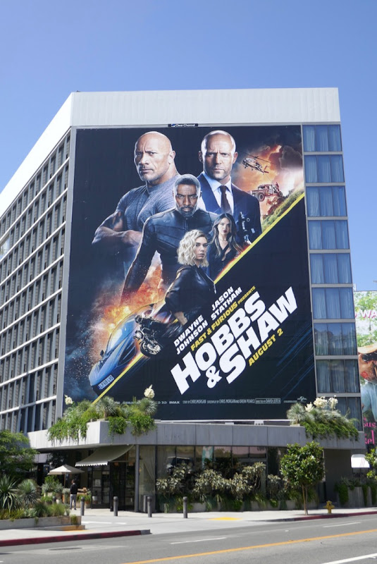 Giant Hobbs & Shaw movie billboard