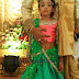 Baby in Green Half Saree