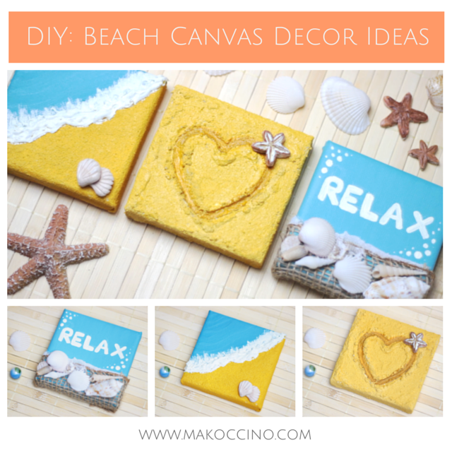 DIY: 3D Beach Canvas Wall Decor Ideas for Home Decoration – Makoccino