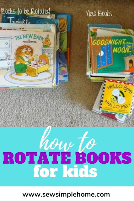 Simple, step by step process used to organize and rotate children's books quarterly using seasons and age level.