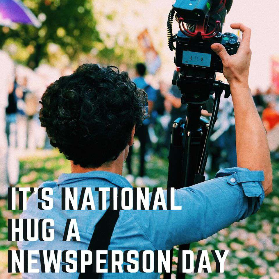 National Hug a Newsperson Day Wishes pics free download