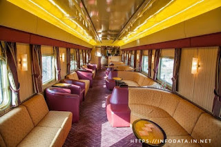 Indian Pacific train inside view info Data India