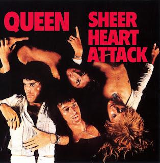 """Queen - Capa do disco """"Sheer Heart Attack"""" de 1974"""