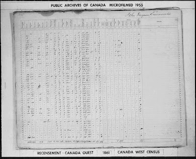Census of 1861, Canada West, Lanark County, district 11, Township of Montague, Agricultural schedule, p 22 (continued); RG 31; digital images, Library and Archives Canada, Library and Archives Canada (www.bac-lac.gc.ca : accessed 17 Feb 2021); citing Library and Archives Canada microfilm C-1042-1043.