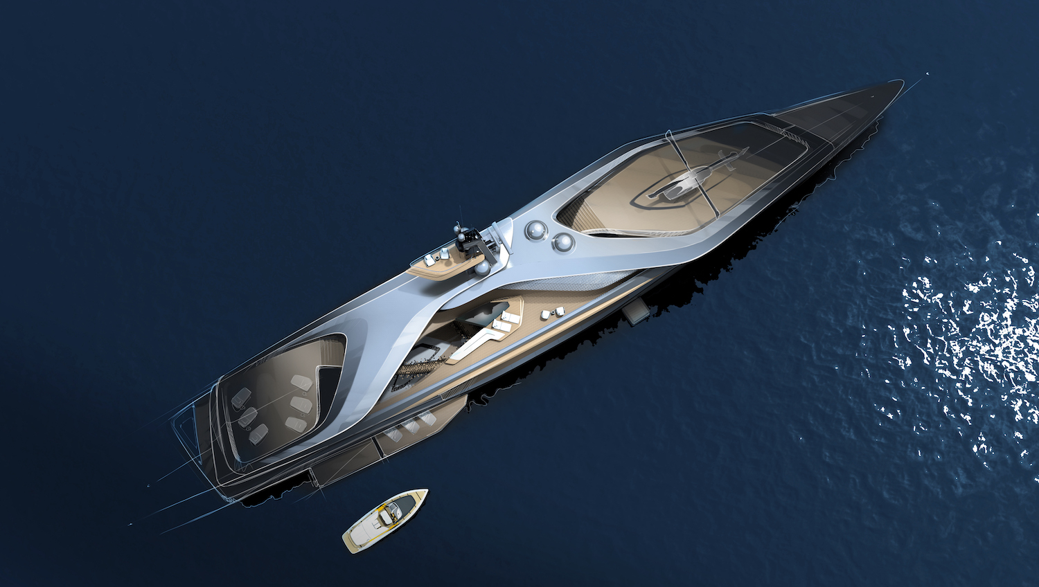 Oceanco, Pininfarina and Lateral have joined forces to innovate yacht design with Kairos