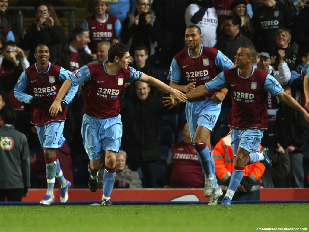 Aston Villa FC Lions Goal Celebration Premier League ...