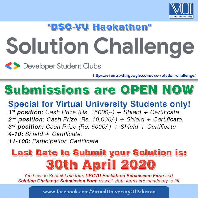 DSC solution challenge with Special offer for VU students