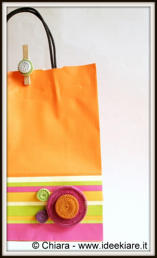 nuovo aspetto prestazione affidabile super qualità Ideekiare: Sacchetti di carta e mollette decorati col ...