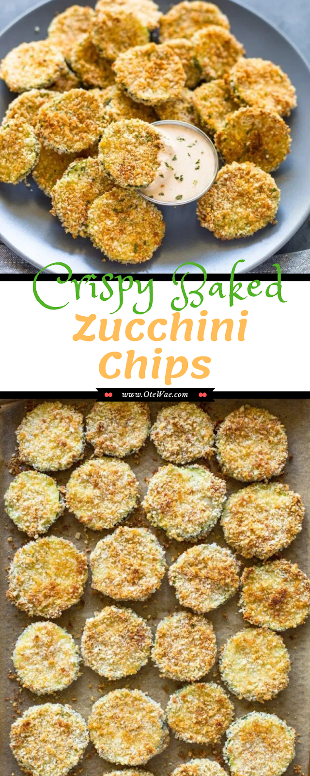 Crispy Baked Zucchini Chips