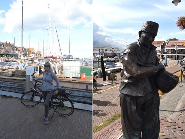 statua pescatore nel porto di Volendam