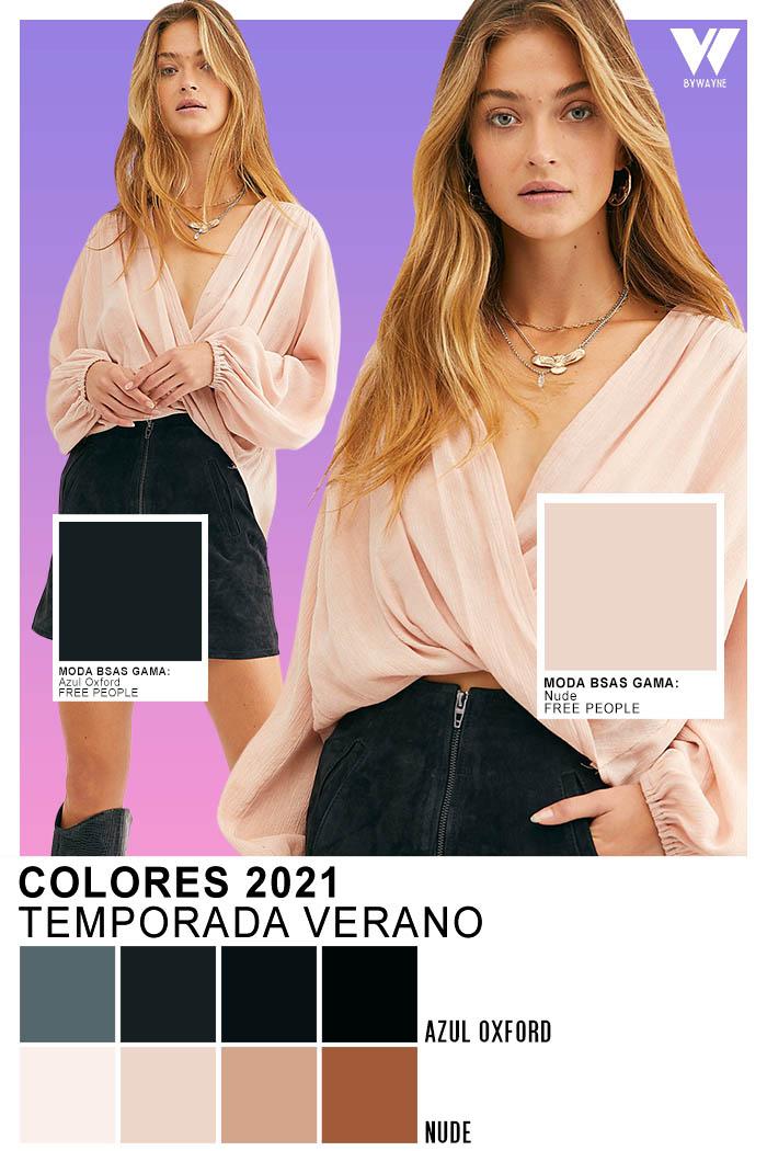 Colores 2021 Colores de moda 2021 Azul Oxford Nude