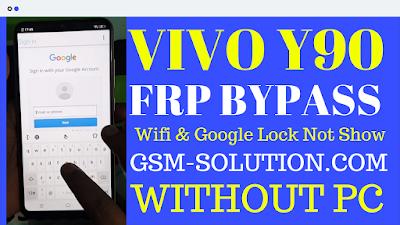 Vivo Y90-Vivo 1908 FRP BYPASS-No Need Pc