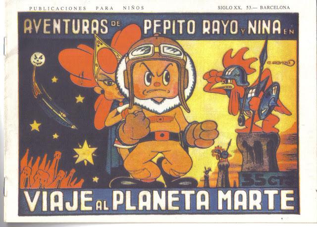 Aventuras de Pepito Rayo y Nina nº 3, Viaje al planeta Marte (1946)