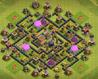 Base Hybrid Clash of Clans Town Hall 8